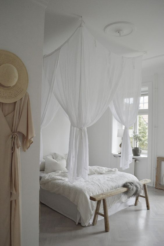 make a canopy for the bed