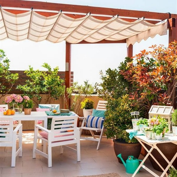 Terrace with awning