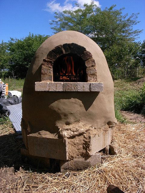 earthen barbecue oven