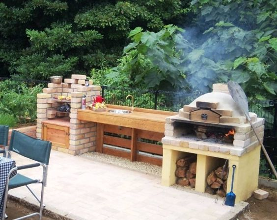 wood-fired oven for barbecue