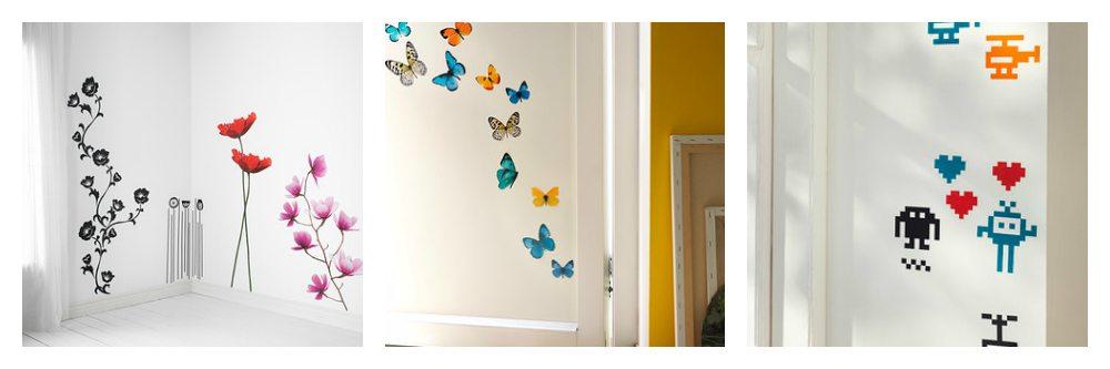 buy decorative vinyls - ikea decorative vinyls - flowers, butterflies and geek