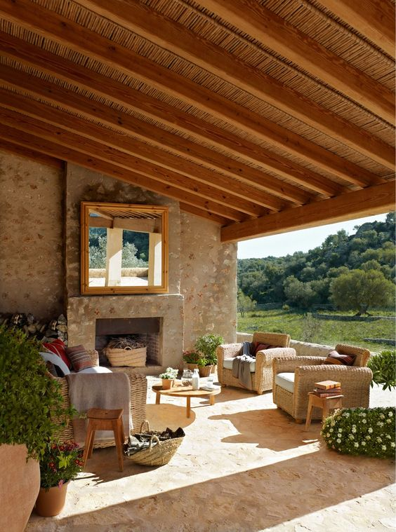 27 beautiful terrace designs with rustic touches