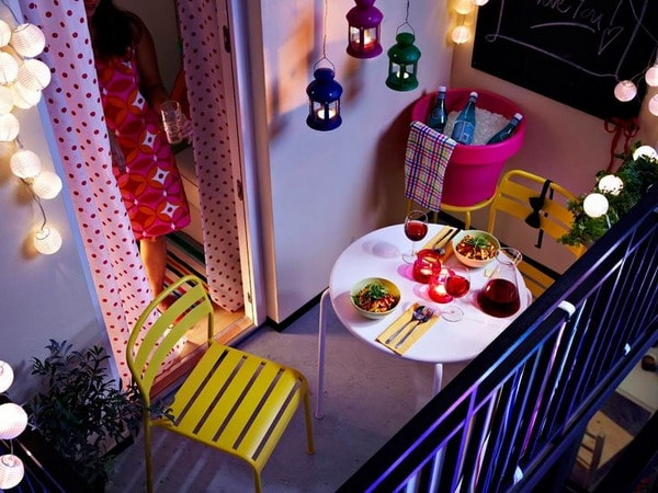 Spring Balcony with lights