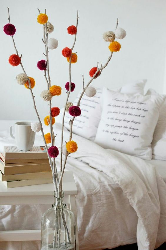 decorate with wool pompoms III