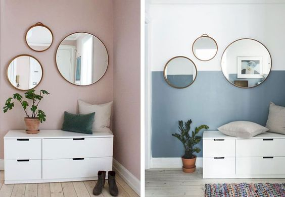 decorate with VI round mirrors