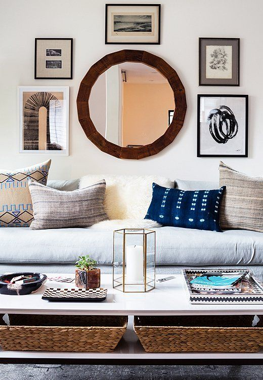 decorate with round mirrors X