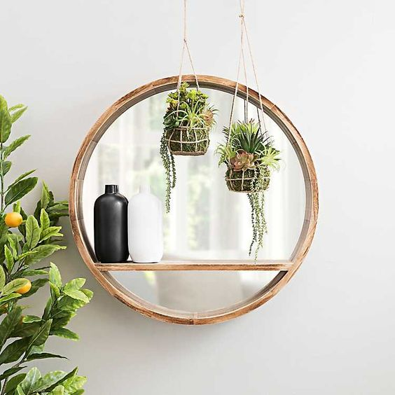 decorate with IV round mirrors