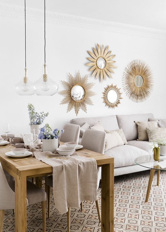 decorate with XII round mirrors