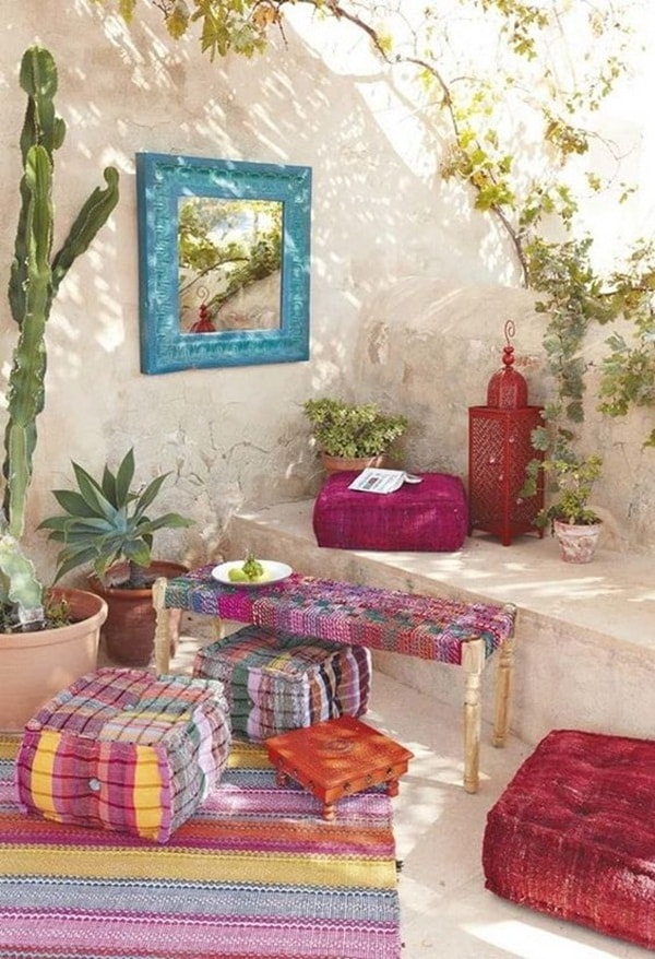 Colorful Boho Chic Terraces