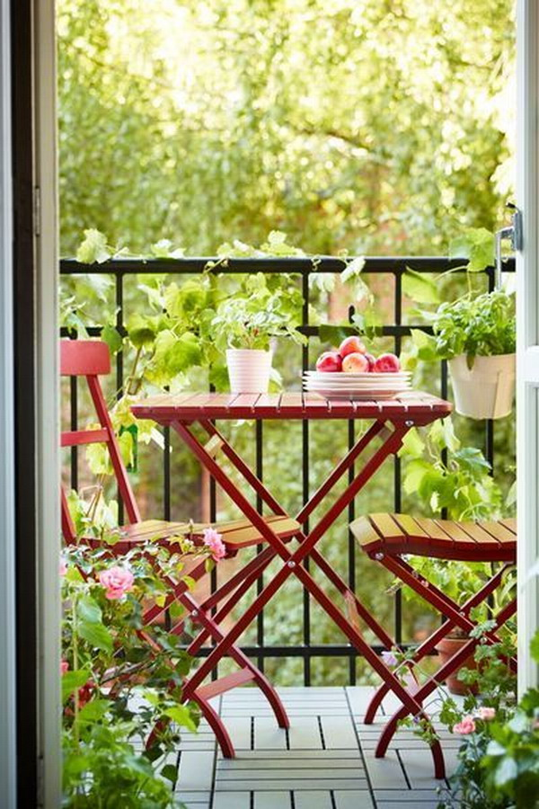 Small balconies with a lot of charm