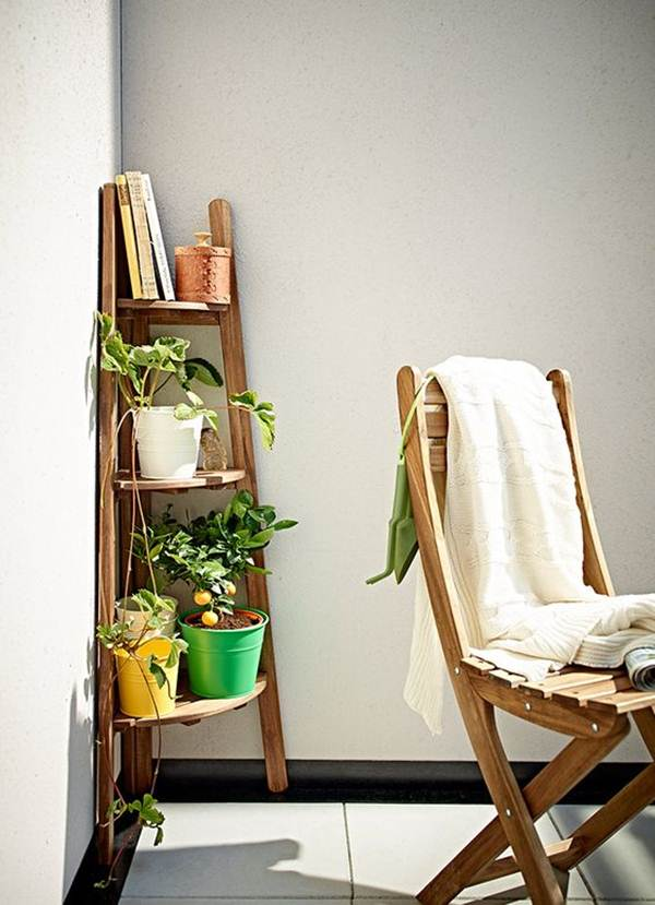 Corner furniture for balcony