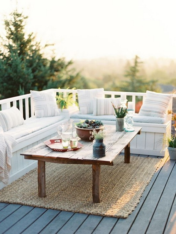 Terrace with lots of wood