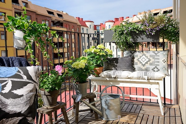 Balcony bench