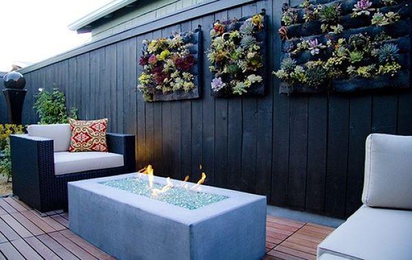 Vertical garden on terrace