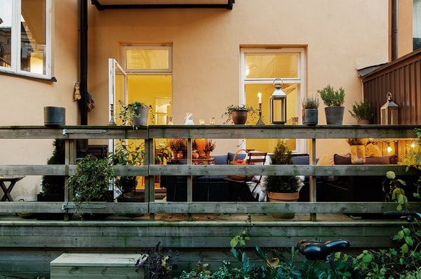 Terrace with plants for autumn