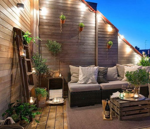 Beautiful terrace with lots of wood