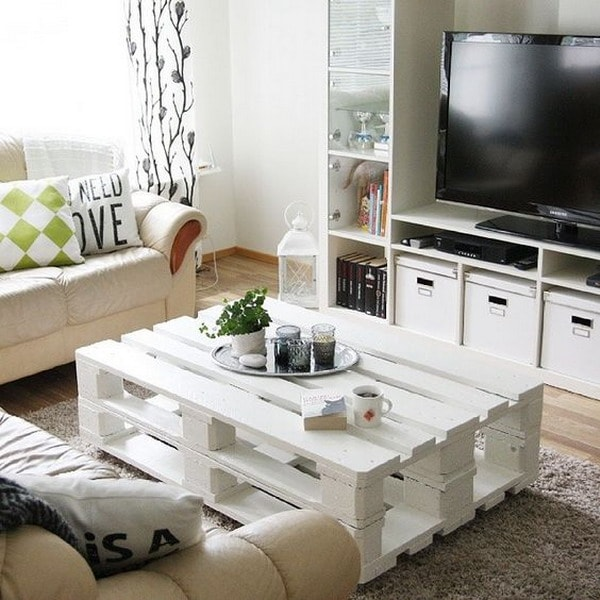 Wooden pallets in the living room