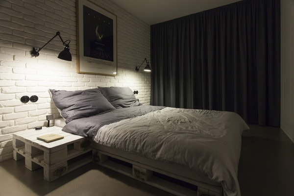 Beds made with wooden pallets