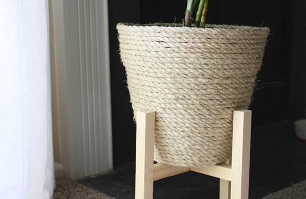 Rustic homemade flowerpots