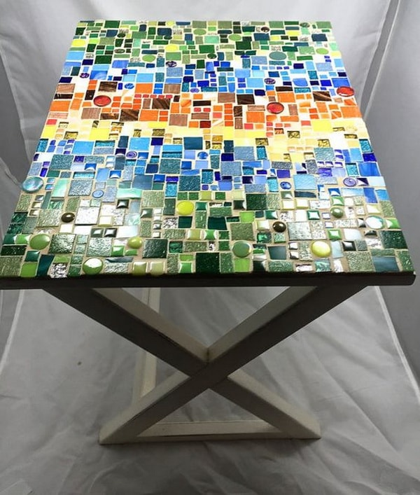 Tables with mosaics