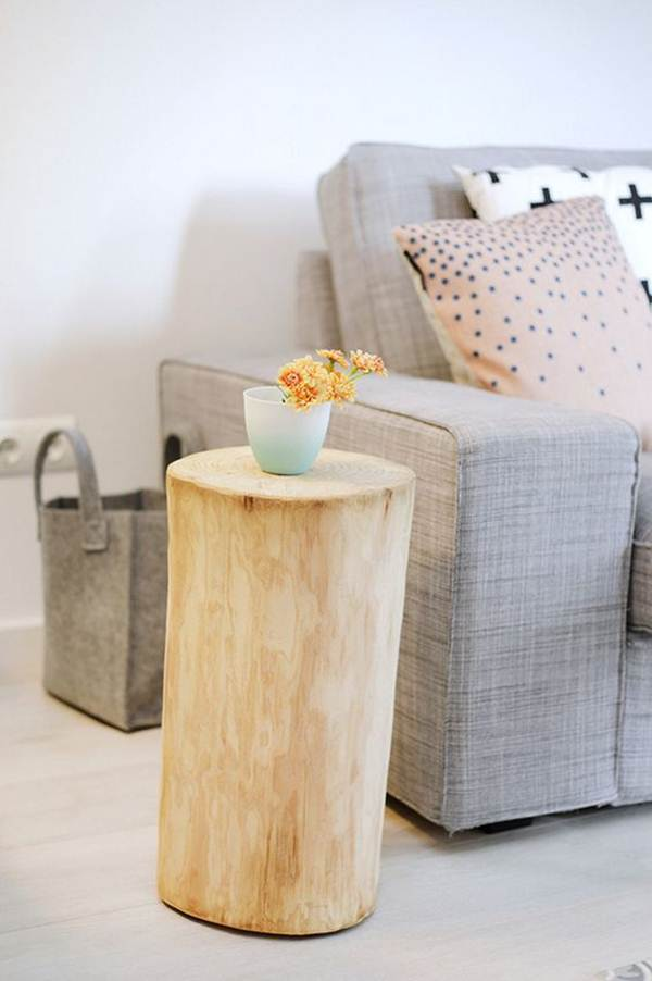 Side table with trunk