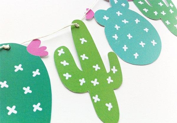 Paper cactus to decorate parties