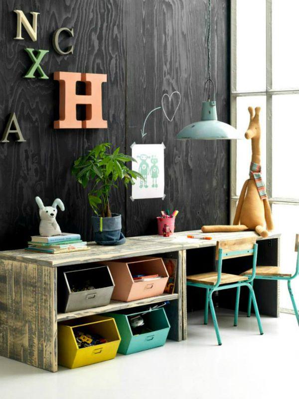 Children's desk made of wood