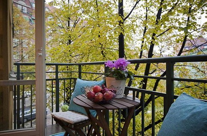 Small and simple balcony