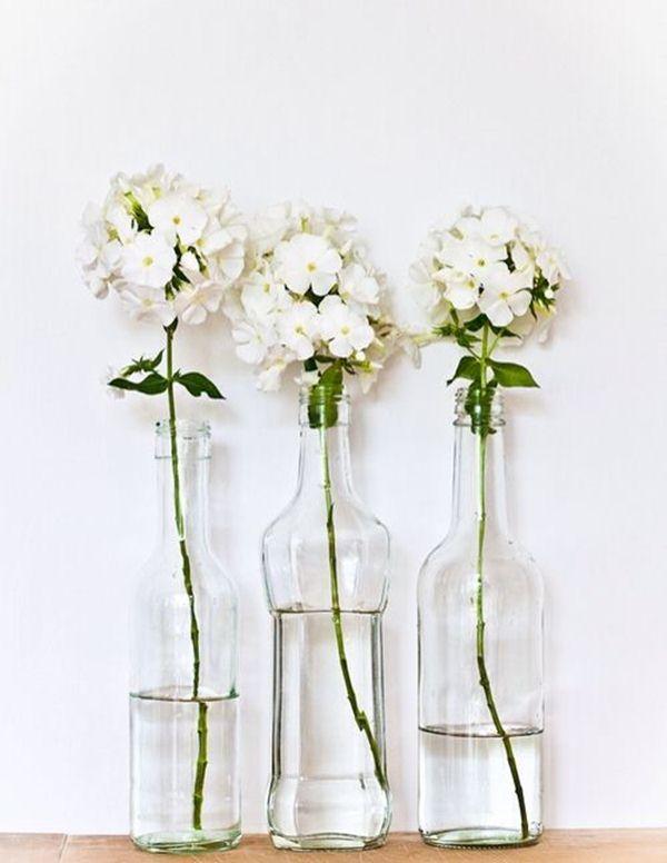 Clear glass bottles