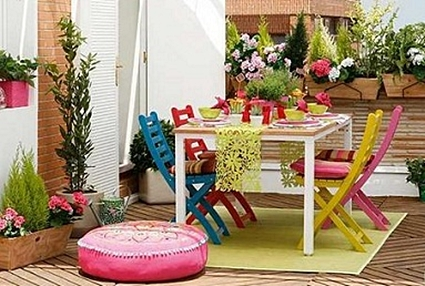 Low cost ideas for decorating the terrace