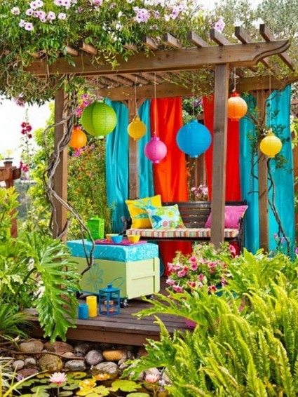 Summer decoration for the terrace