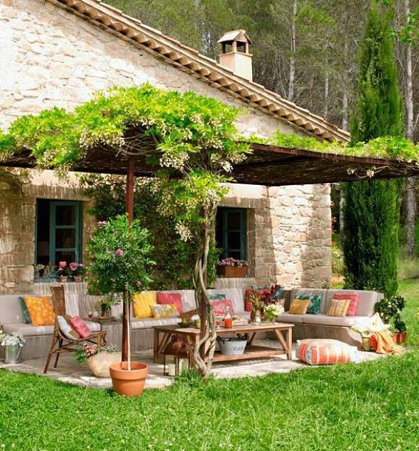 Colourful gardens and terraces