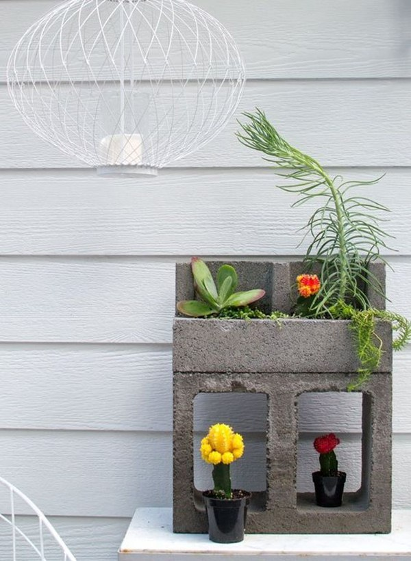 Decorate with cement blocks