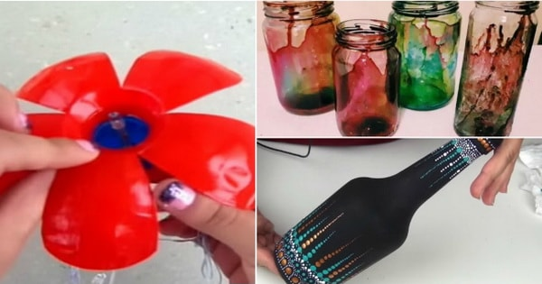 Handicrafts with recycled objects
