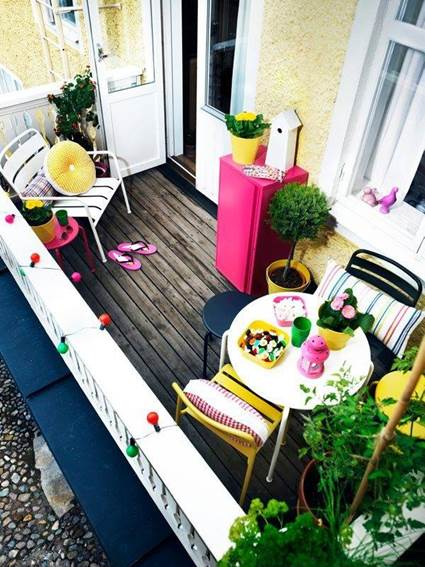 Small balconies with style