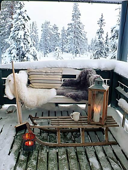 Terraces in winter