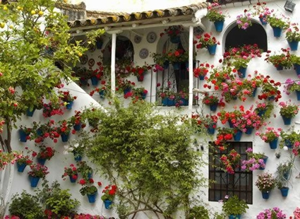 Decoration of Andalusian balconies