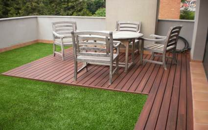 Artificial turf for terrace decoration