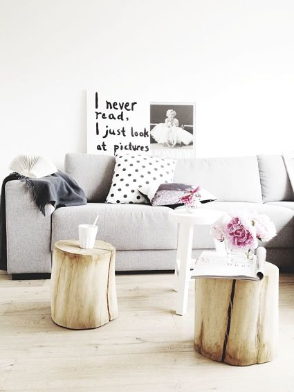 Coffee tables with logs