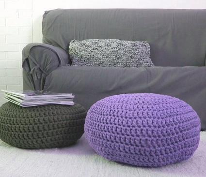 Poufs with crochet