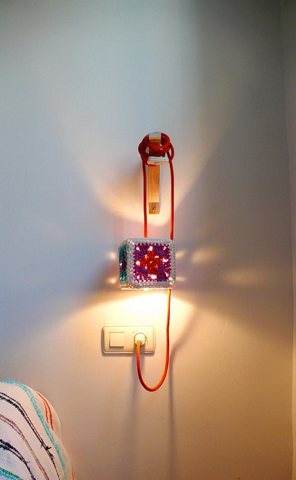 Lamp made with crochet