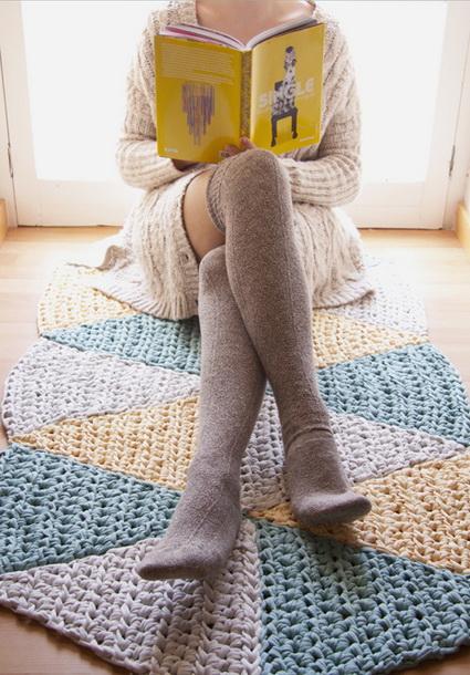 Crocheted carpet