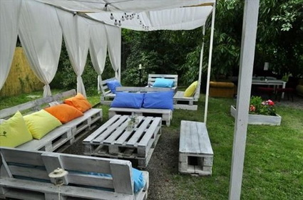Outdoor furniture with pallets