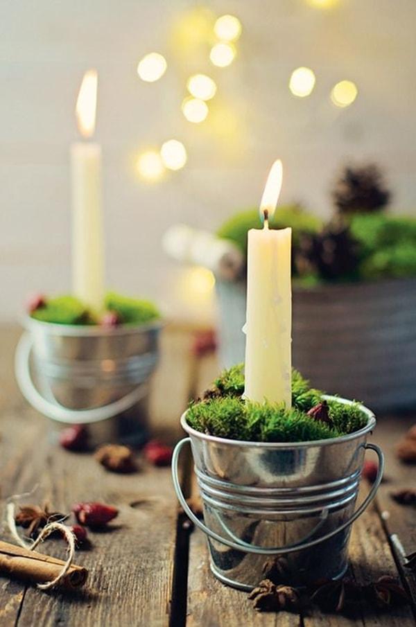 Homemade candleholders