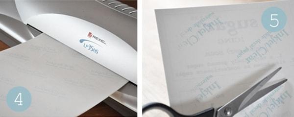 Transparent adhesive paper