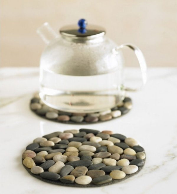 Nice and simple ideas for decorating with stones