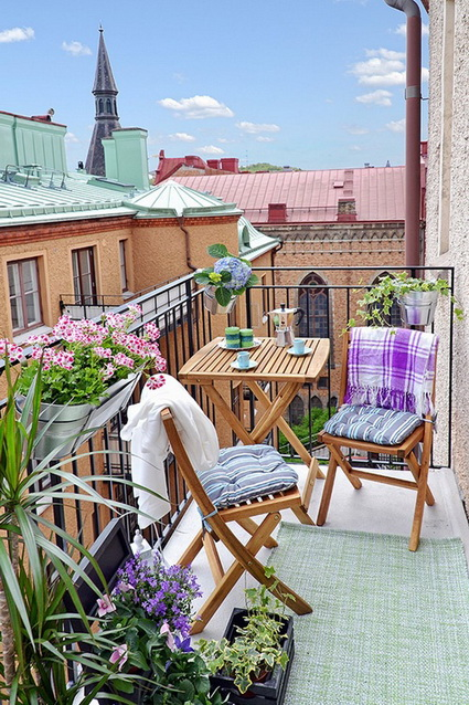 10 ideas for small balconies
