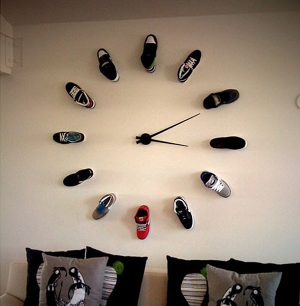 Watch made with slippers