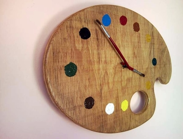 DIY watch made with painter's palette