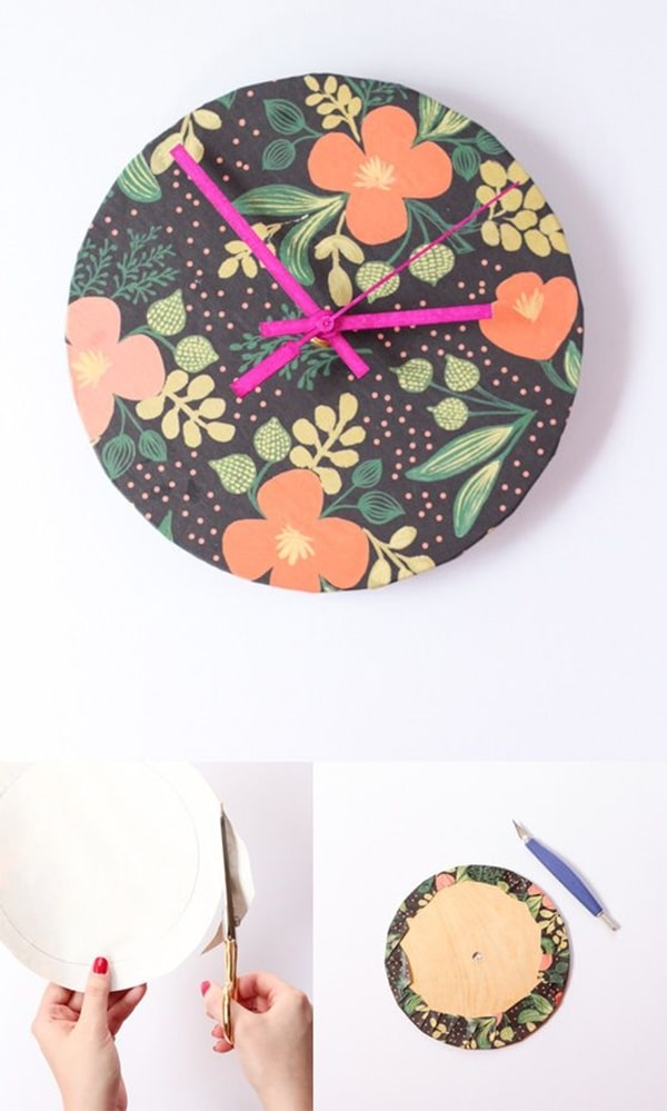 Homemade watch made with fabric